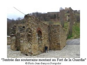 AM 57 p2 V4 l entrée des souterrains montant au Fort de la Guardia