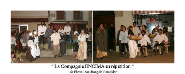 AM 75 p 4 vues 1-2 la Compagnie ENCIMA en répétition