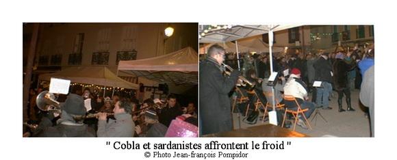AM 81  p2 et 7 vues 2 cobla et  sardanistes affrontent le froid
