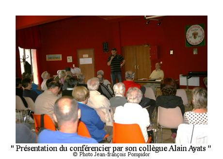 AM 98 p2 V3 présentation du conférencier par son collègue Alain Ayats