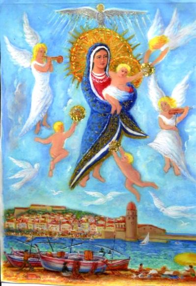 la Vierge et Collioure, une des œuvres exposées