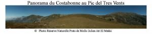 Panorama du Costabonne au Pic del Tres Vents (Julien Aït El Mekki) SITE