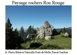 paysage rochers roc rouge SITE